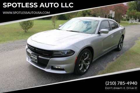 2015 Dodge Charger for sale at SPOTLESS AUTO LLC in San Antonio TX