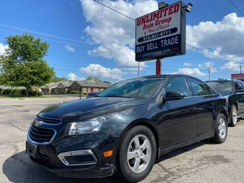 2015 Chevrolet Cruze for sale at Unlimited Auto Group in West Chester OH