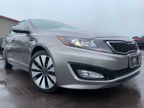 2012 Kia Optima for sale at LUXURY IMPORTS in Hermantown MN