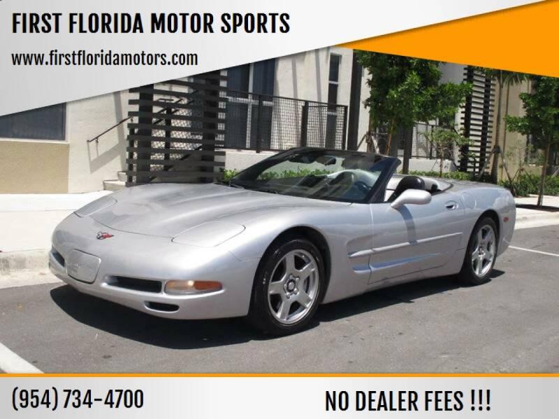 1998 Chevrolet Corvette for sale at FIRST FLORIDA MOTOR SPORTS in Pompano Beach FL