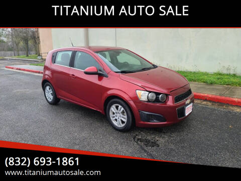 2013 Chevrolet Sonic for sale at TITANIUM AUTO SALE in Houston TX