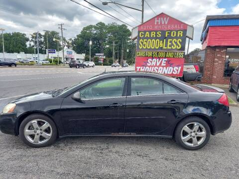 2005 Pontiac G6 for sale at HW Auto Wholesale in Norfolk VA