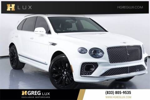 2021 Bentley Bentayga for sale at HGREG LUX EXCLUSIVE MOTORCARS in Pompano Beach FL