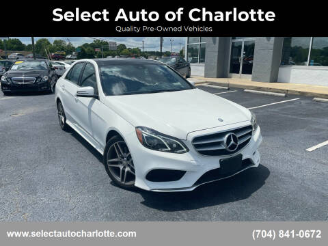 2014 Mercedes-Benz E-Class for sale at Select Auto of Charlotte in Matthews NC