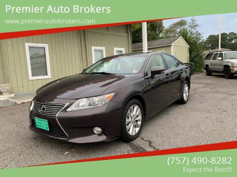 2013 Lexus ES 300h for sale at Premier Auto Brokers in Virginia Beach VA