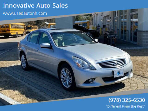 2013 Infiniti G37 Sedan for sale at Innovative Auto Sales in North Hampton NH