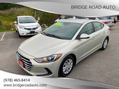2017 Hyundai Elantra for sale at Bridge Road Auto in Salisbury MA