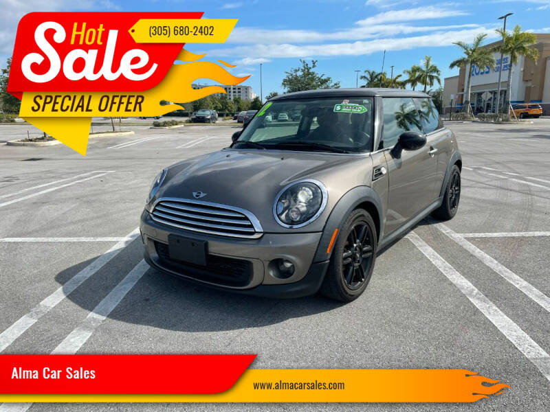 2012 MINI Cooper Hardtop for sale at Alma Car Sales in Miami FL