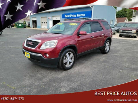 2011 GMC Acadia for sale at Best Price Autos in Two Rivers WI