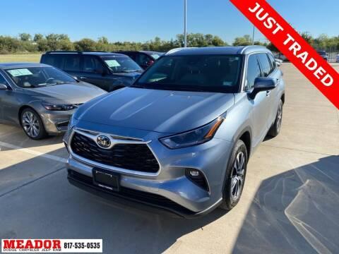2021 Toyota Highlander for sale at Meador Dodge Chrysler Jeep RAM in Fort Worth TX