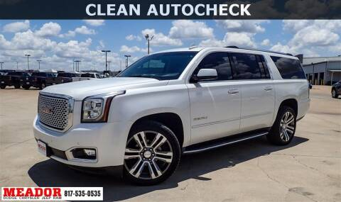 2017 GMC Yukon XL for sale at Meador Dodge Chrysler Jeep RAM in Fort Worth TX