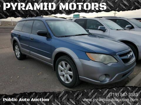 2008 Subaru Outback for sale at PYRAMID MOTORS - Pueblo Lot in Pueblo CO