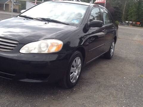 2004 Toyota Corolla for sale at Lance Motors in Monroe Township NJ
