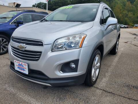 2016 Chevrolet Trax for sale at Auto Wholesalers Of Hooksett in Hooksett NH