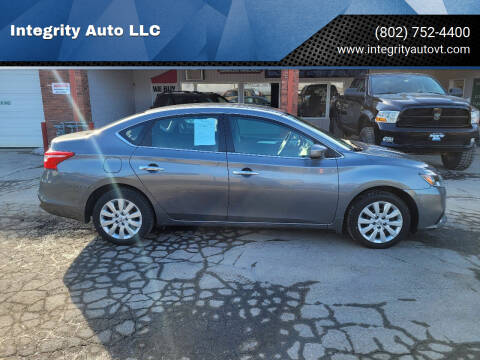 2017 Nissan Sentra for sale at Integrity Auto LLC - Integrity Auto 2.0 in St. Albans VT