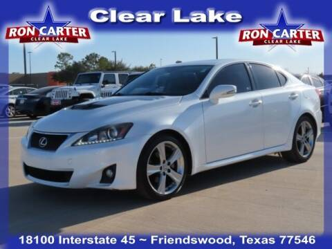 2012 Lexus IS 250 for sale at Ron Carter  Clear Lake Used Cars in Houston TX
