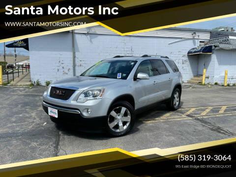 2012 GMC Acadia for sale at Santa Motors Inc in Rochester NY