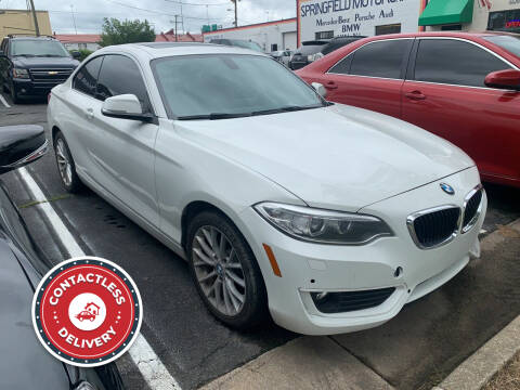 2015 BMW 2 Series for sale at DC Motorcars in Springfield VA