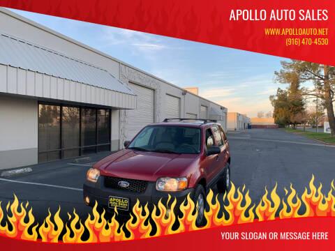 2006 Ford Escape for sale at APOLLO AUTO SALES in Sacramento CA