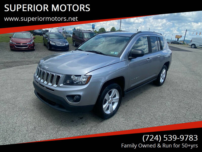 2016 Jeep Compass for sale at SUPERIOR MOTORS in Latrobe PA