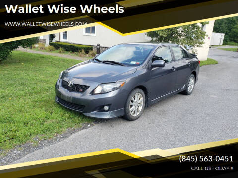 2009 Toyota Corolla for sale at Wallet Wise Wheels in Montgomery NY