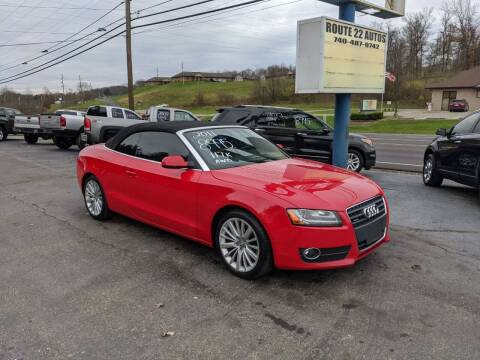 2011 Audi A5 for sale at Route 22 Autos in Zanesville OH