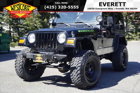 2002 Jeep Wrangler for sale at West Coast Auto Works in Edmonds WA