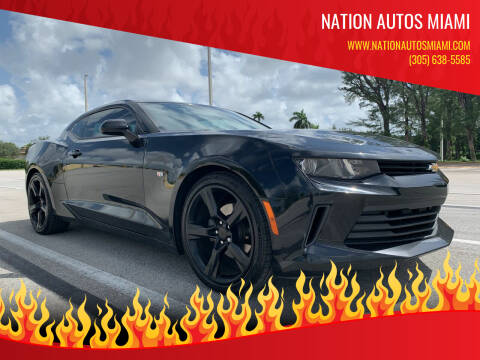 2017 Chevrolet Camaro for sale at Nation Autos Miami in Hialeah FL