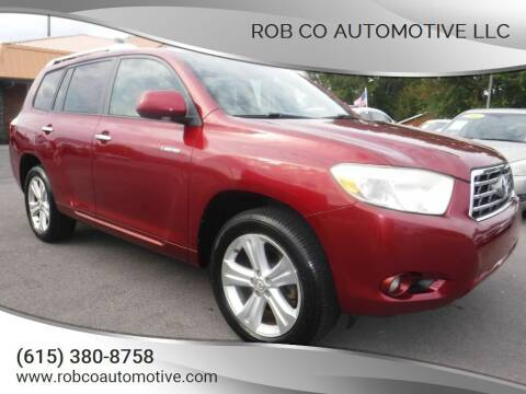 2008 Toyota Highlander for sale at Rob Co Automotive LLC in Springfield TN