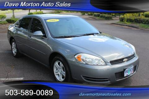 2007 Chevrolet Impala for sale at Dave Morton Auto Sales in Salem OR
