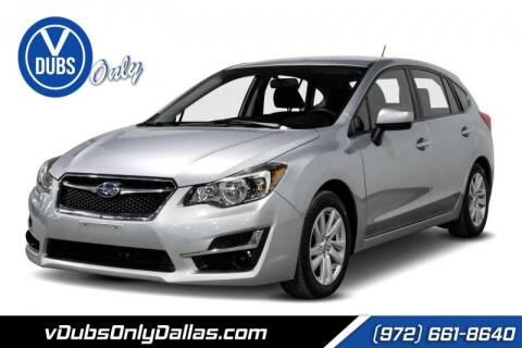 2016 Subaru Impreza for sale at VDUBS ONLY in Dallas TX