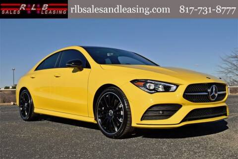 2020 Mercedes-Benz CLA for sale at RLB Sales and Leasing in Fort Worth TX