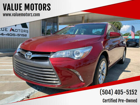 2016 Toyota Camry for sale at VALUE MOTORS in Kenner LA