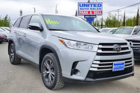 2019 Toyota Highlander for sale at United Auto Sales in Anchorage AK