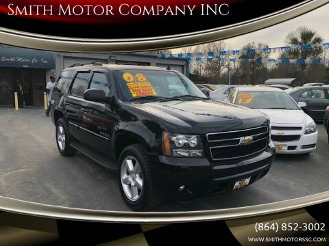 2008 Chevrolet Tahoe for sale at Smith Motor Company INC in Mc Cormick SC