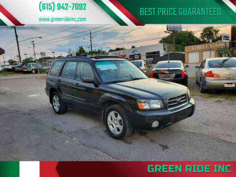 2003 Subaru Forester for sale at Green Ride Inc in Nashville TN