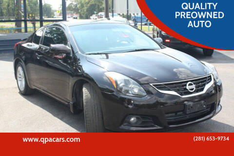 2013 Nissan Altima for sale at QUALITY PREOWNED AUTO in Houston TX