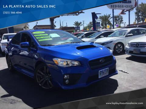 2016 Subaru WRX for sale at LA PLAYITA AUTO SALES INC in South Gate CA