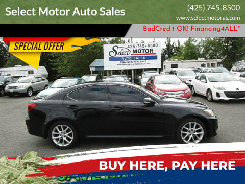 2011 Lexus IS 250 for sale at Select Motor Auto Sales in Lynnwood WA