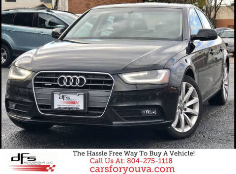 2013 Audi A4 for sale at DFS Auto Group of Richmond in Richmond VA