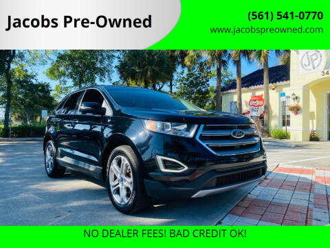 2016 Ford Edge for sale at Jacobs Pre-Owned in Lake Worth FL