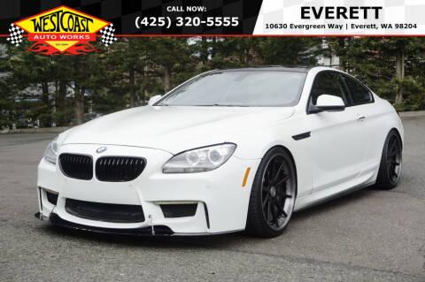 2013 BMW 6 Series for sale at West Coast Auto Works in Edmonds WA
