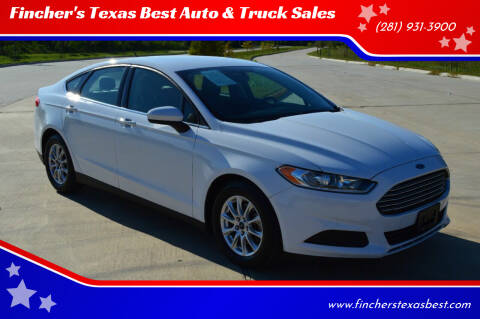 2016 Ford Fusion for sale at Fincher's Texas Best Auto & Truck Sales in Tomball TX