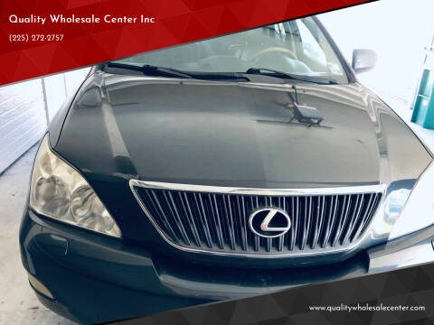 2007 Lexus RX 350 for sale at Quality Wholesale Center Inc in Baton Rouge LA