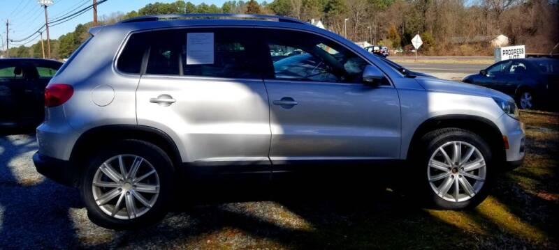 2012 Volkswagen Tiguan for sale at Progress Auto Sales in Durham NC