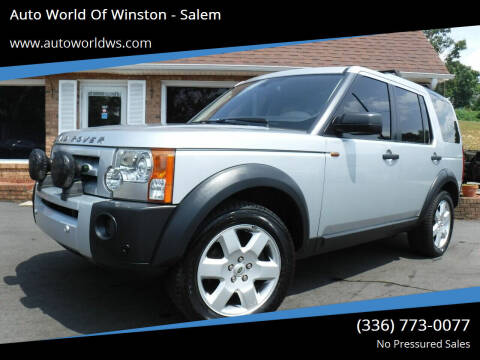 2008 Land Rover LR3 for sale at Auto World Of Winston - Salem in Winston Salem NC