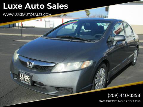 2009 Honda Civic for sale at Luxe Auto Sales in Modesto CA