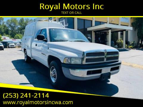 2002 Dodge Ram Pickup 2500 for sale at Royal Motors Inc in Kent WA