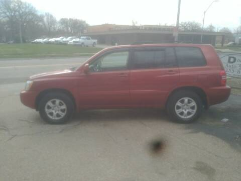 2003 Toyota Highlander for sale at D & D Auto Sales in Topeka KS