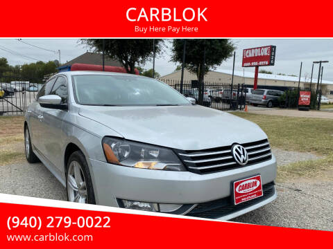 2015 Volkswagen Passat for sale at CARBLOK in Lewisville TX